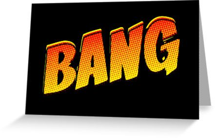 Cartoon Bang Greeting Card by Chillee Wilson