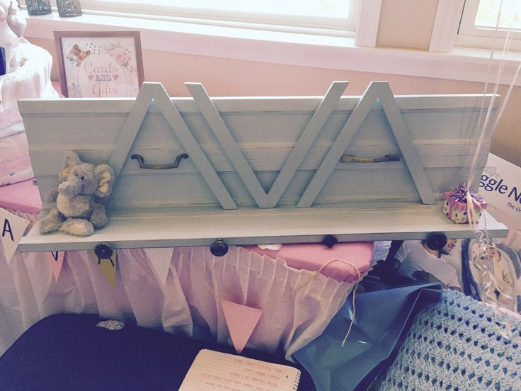 Distressed shelf for my niece. Made with old trim and hardware from the local reuse store. AlixWithAnEye