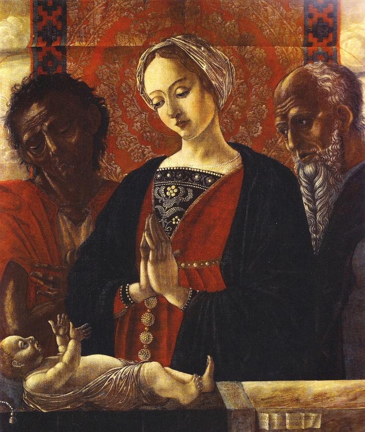 Leonelli Antonio, Antonio da Crevalcore Sacra Famiglia con San Giovanni Battista, XV d.C.
