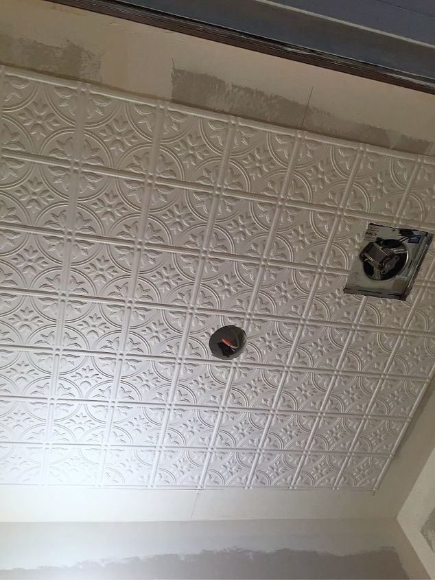 How To Dress Up Your Ceilings With Diy Faux Tin Ceiling Tiles Faux Tin Ceiling Faux Tin Ceiling Tiles Tin Ceiling Tiles Diy