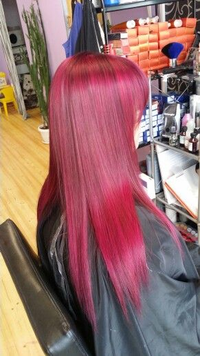 from deep dark brown to violet/pink