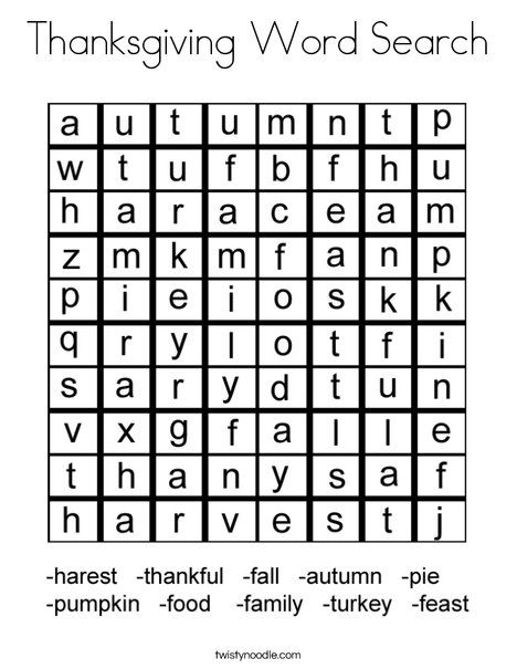 thanksgiving word search coloring page that you can customize and print for kids