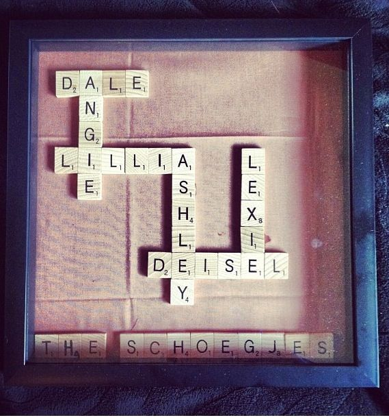 Scrabble letter crafts are my favorite | ^^Chevron, Anchors ...