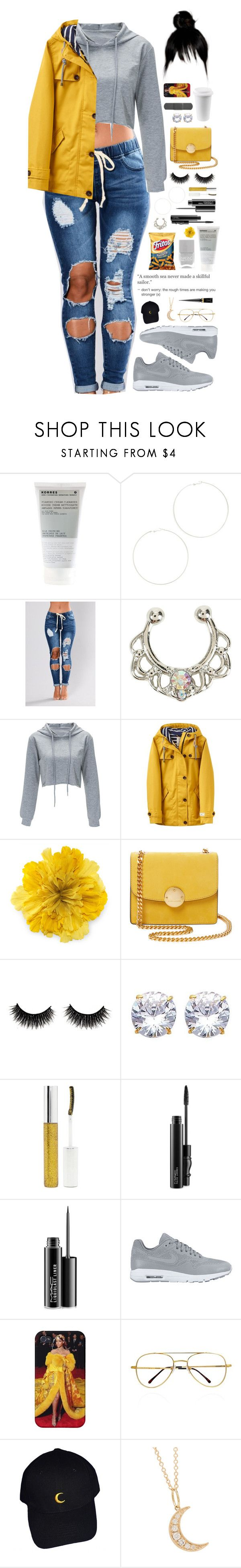 """rough times."" by dyciana ❤ liked on Polyvore featuring Nails Inc., Korres, Kenneth Jay Lane, Hot Topic, Joules, Gucci, Marc Jacobs, Forever 21, MAC Cosmetics and NIKE"