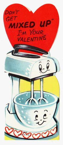 Vintage Valentine Cad -baking love!