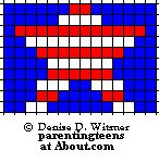 Safety Pin Bead Patterns | US Flag Pattern Patriotic Beaded Safety Pin Patterns