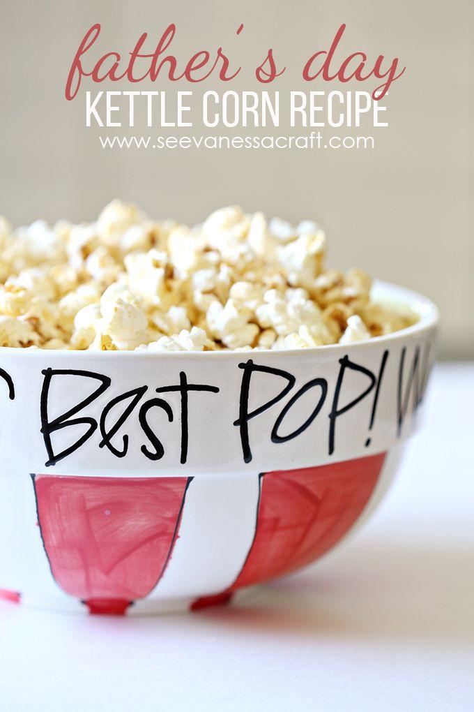 Best Pop Kettle Corn Recipe - Father's Day Gift Idea
