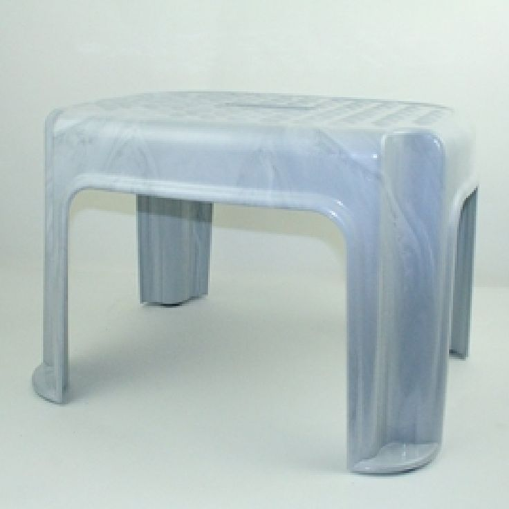 1-Step Plastic Step Stool with 200 lb. Load Capacity
