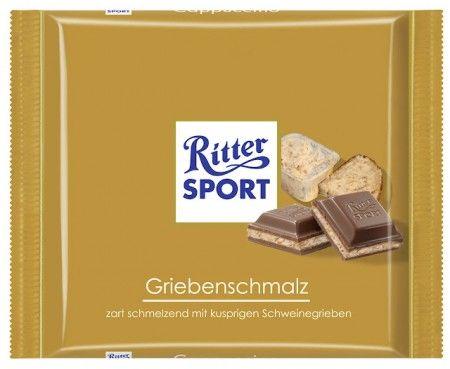 RITTER SPORT Fake Schokolade Griebenschmalz