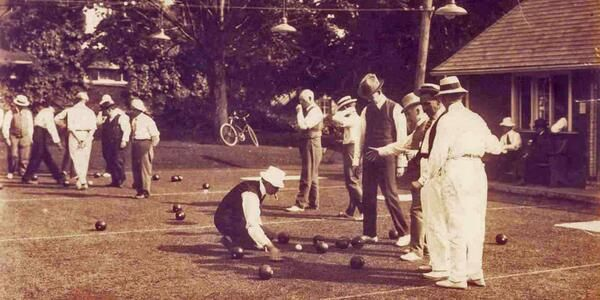 Image result for lawn bowling 1920s