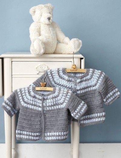 Craft Passions: Cluster Yoke Cardigan..# free #Crochet  pattern li...