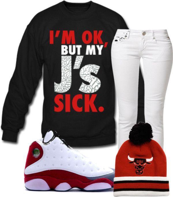 """'My J's Sick'"" by ayooitssdeedee ❤ liked on Polyvore"