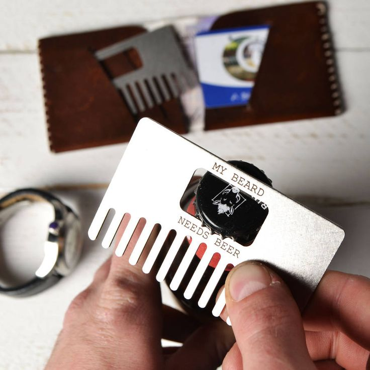 Beard Comb And Bottle Opener Combination