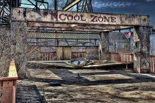 Abandoned Six Flags amusement park in New Orleans.