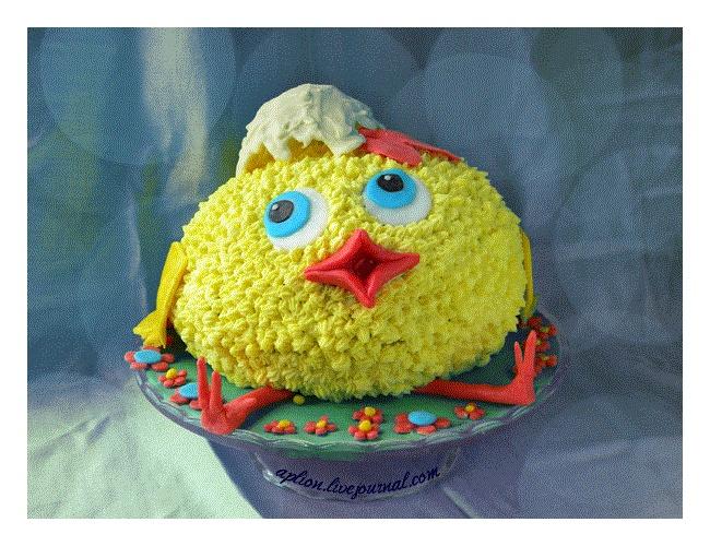 Cake .  Торт веселый цыпленок.  http://aplion.livejournal.com/