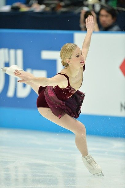 Joannie Rochette of Canada performs in the women's free skating at the Japan Open figure skating competition at Saitama Super Arena in Saita...