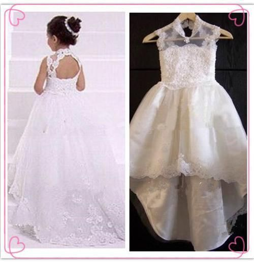 Pink Puffy Ball Gown Girls Communion Party Prom Formal Dress Flower Girl Dresses