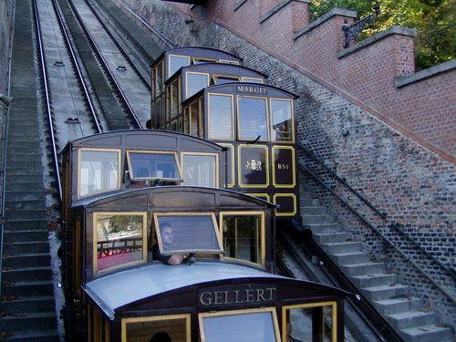 Funicular railway in Budapest