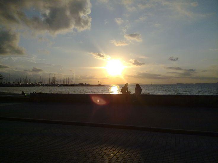 Západ slnka Malorka.