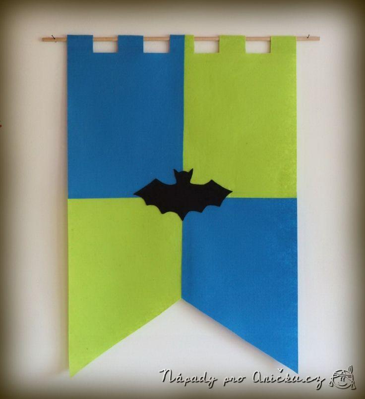 Rytířská vlajka do pokojíčku - Felt knight's flag