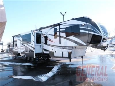 Dutchmen Voltage V3895 Fifth Wheel Toy Hauler W Rear Ramp