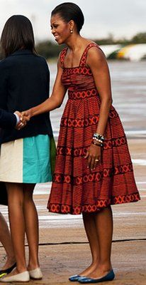 The First Lady in African Print Sundress