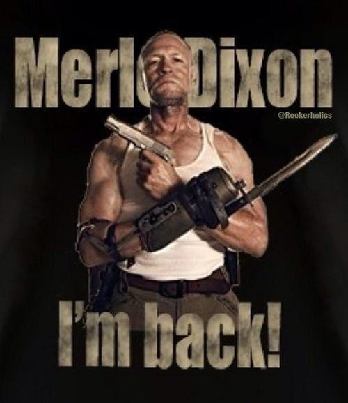 Merle Dixon, The Walking Dead... But for how long? Okay, I've said far too much
