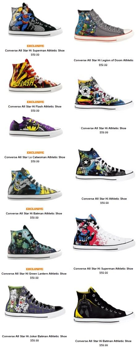 Exclusive Converse x DC Comics Kicks, I want them all!