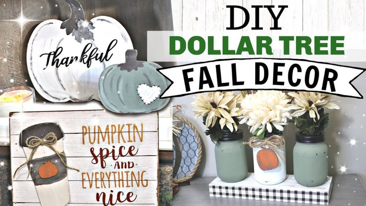 DIY Dollar Tree FALL Decor 2019 | Farmhouse Autumn…