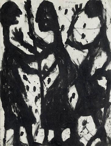 Art brut, Prêtresses, druides, 1942, Louis Soutter