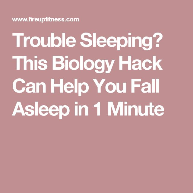 Trouble Sleeping? This Biology Hack Can Help You Fall Asleep in 1 Minute