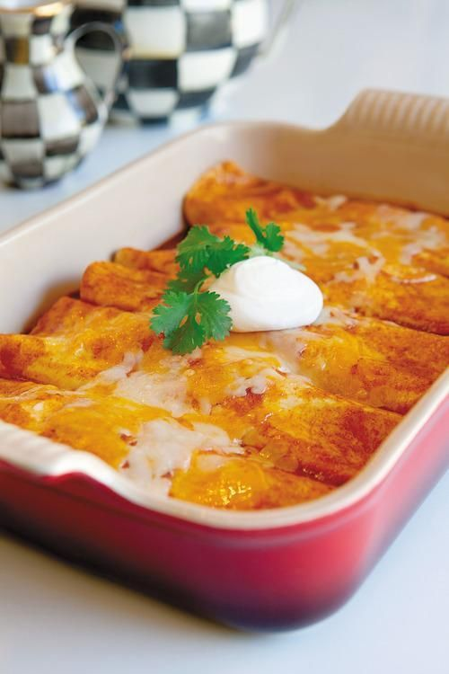 This was amazing! I doubled cheese, used cheddar, mozzarella, and Monterey Jack. I made homemade enchilada sauce, the recipe is here too. -Marialena