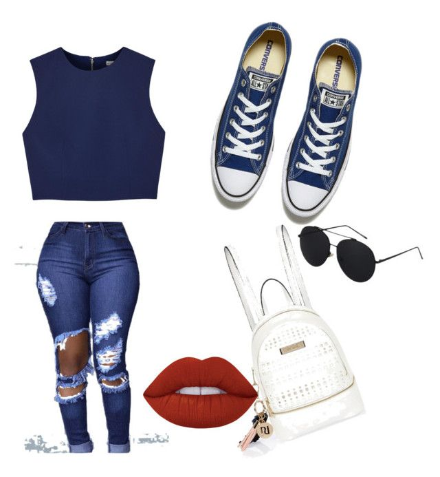 """Untitled #1"" by valentinarodriguez-iii on Polyvore featuring Alice + Olivia, Converse, River Island and Lime Crime"