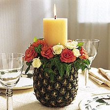 pineapple centerpiece by Latin Baby, via Flickr
