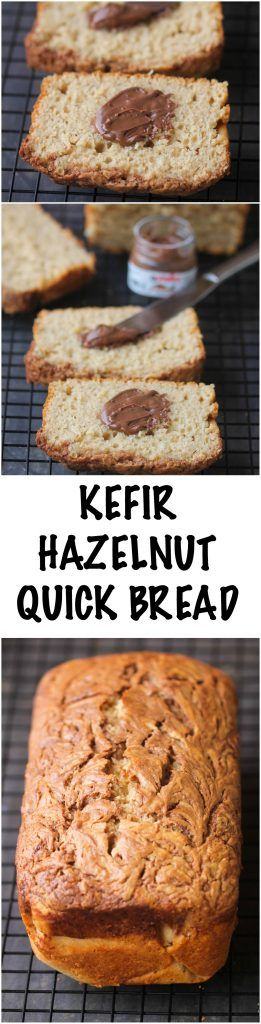 Kefir Hazelnut Bread is a delicious, super-moist  & indulgent quick bread perfect for an afternoon tea or snacking.