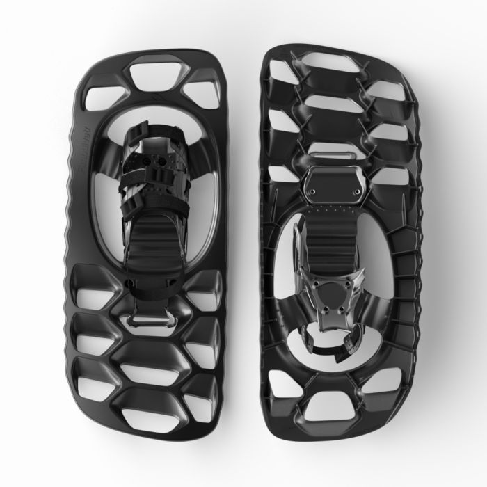 Fimbulvetr hikr, our answer to a smaller more aggressive snowshoe. Designed and engineered by Pivot Produktdesign.