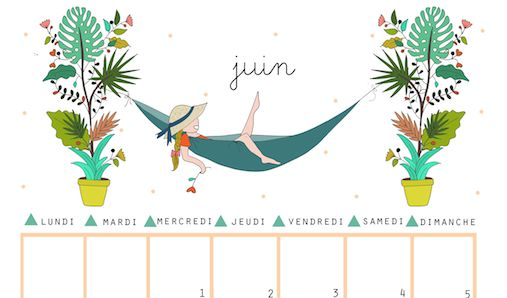 10 jolis calendriers de juin