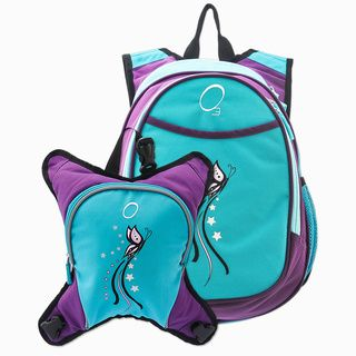 Obersee Munich Turquoise Butterfly School Backpack With Detachable Lunch Cooler | Overstock.com Shopping - Great Deals on O3 Kids' Backpacks