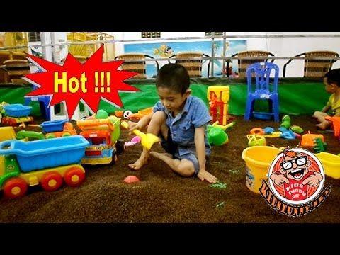 Mother Children up practice of driving cars  *** Children recreation cen...