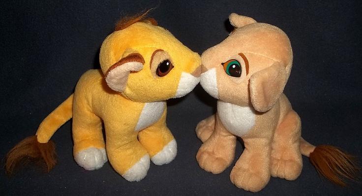 Lion King Kiss Simba Nala Magnetic Noses Plush Dolls 1993 Mattel Disney Vintage   eBay