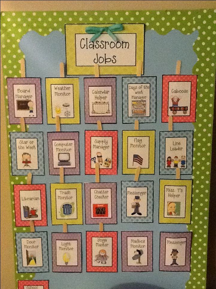 Classroom Job Ideas Middle School ~ Best classroom job chart ideas on pinterest