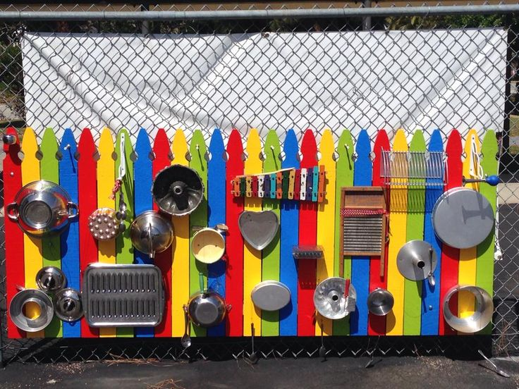 This is the Music Wall I made for my preschool! The kids are really enjoying it!