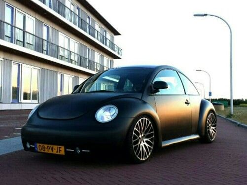 new beetle matte black lowered cars pinterest beetles volkswagen and cars. Black Bedroom Furniture Sets. Home Design Ideas