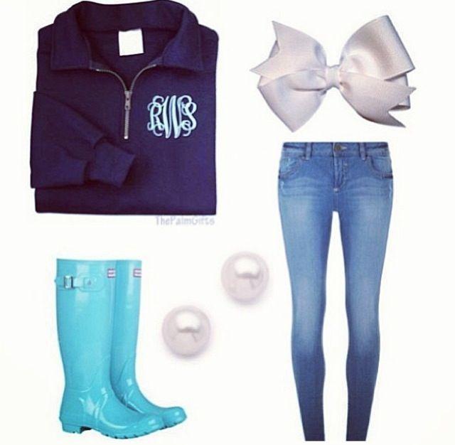 Preppy school clothes. Simple, yet beautiful!