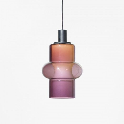Tapio Wirkkala, #4614 Glass and Enameled Aluminum Pendant Lamp for Iittala/Idman Oy, 1962.