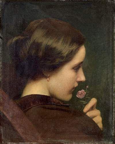 Artwork by Paul Delaroche, Portrait présumé de Louise Vernet, épouse de l'artiste, Made of canvas
