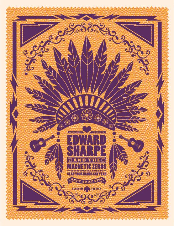 New Stuff / Edward Sharpe & The Magnetic Zeros poster / Lure Design, Inc. in Orlando FL