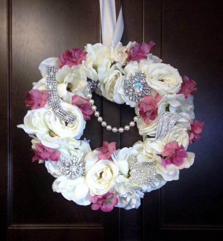 shabby wreath - silk flowers