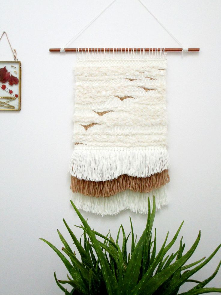 Tissage mural / Wall hanging/ Tenture murale/ Laine