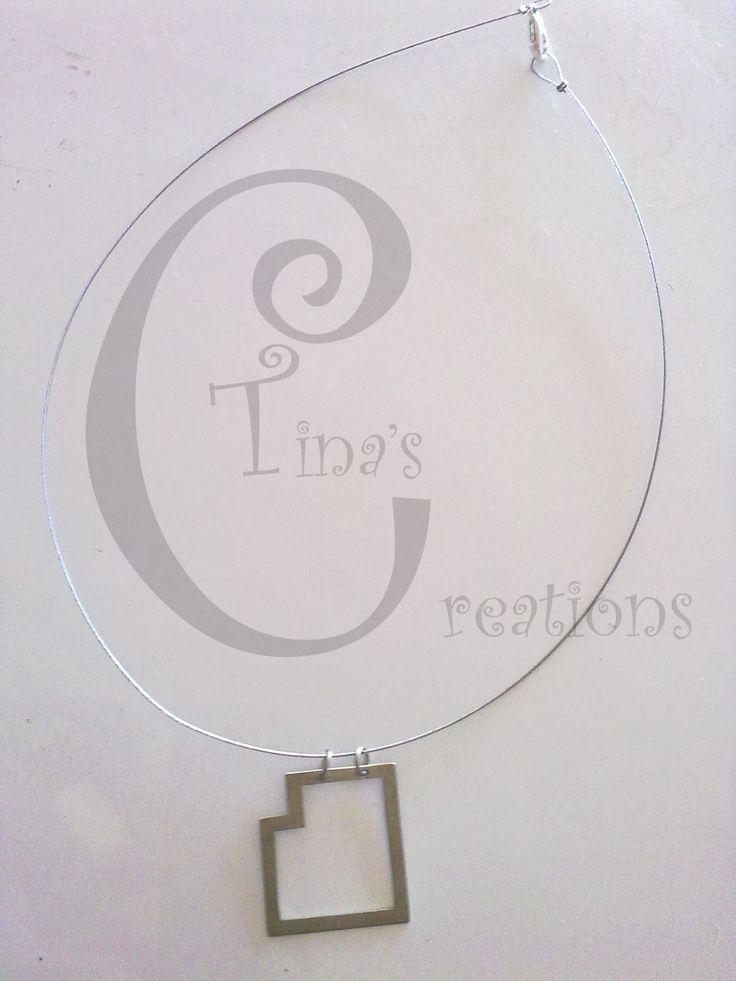 Tina's Creations - Handmade Jewels & More!: 10€ Τετράγωνο κρεμαστο λείπει γωνία / Square penda...